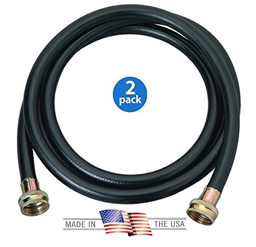 Harbor Washing Machine Rubber Hose, Black, 2 Piece