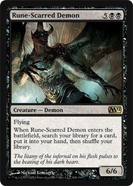 Magic: the Gathering - Rune-Scarred Demon - Magic 2012