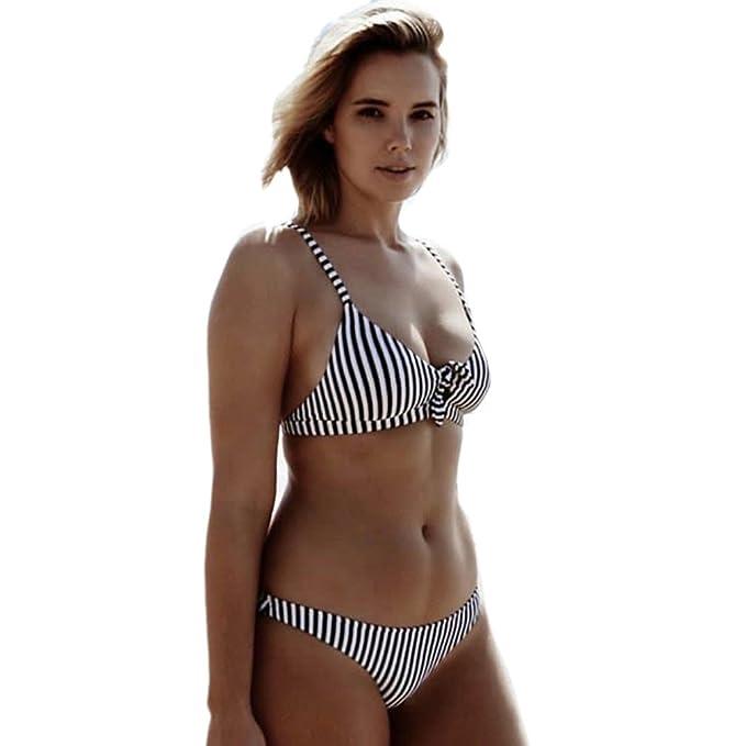 b26bd0c635837 aoliaoyudongyongpin Sexy Black and White Stripes Bikini 2018 Bathing Suit  Swimsuit Push up Swimwear Women Brazilian