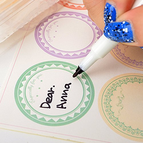 6type Circle Pastel Paper Stickers for Tags,cards,handmade C
