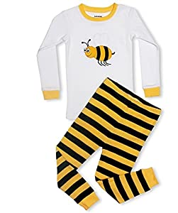 "Leveret Little Girls ""Bumble Bee"" 2 Piece Pajama 100% Cotton (6M-8 Years)"