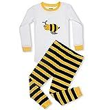 #4: Leveret Boys Girls Moon & Stars Bumble Bee 2 Piece Pajama Set Top & Pants 100% Cotton (Toddler-14 Years)