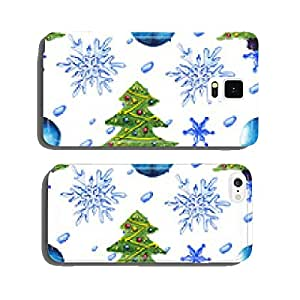 watercolor Christmas tree pattern cell phone cover case Samsung S6