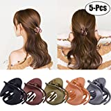 #2: Fascigirl Jaw Clips, 5Pcs Hair Clamps Vintage Simple Irregular Non Slip Claw Clips Hair Accessories for Women