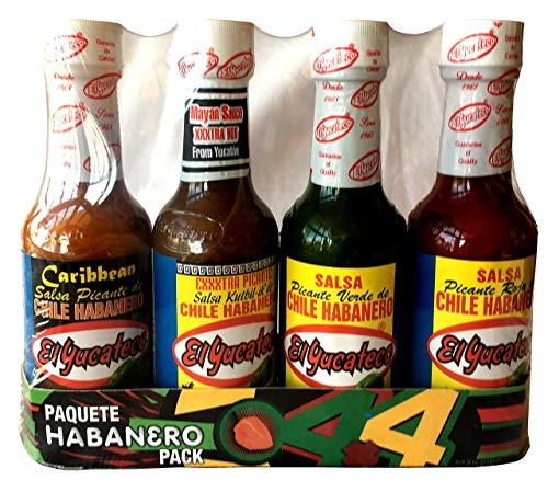 Elle Set - El Yucateco 4 Habanero Hot Sauces Gift Pack, 4 Items
