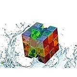 Qm-h 3x3x3 Speed Rubiks puzzle magic Cube 6-Color Stickerless Transparent