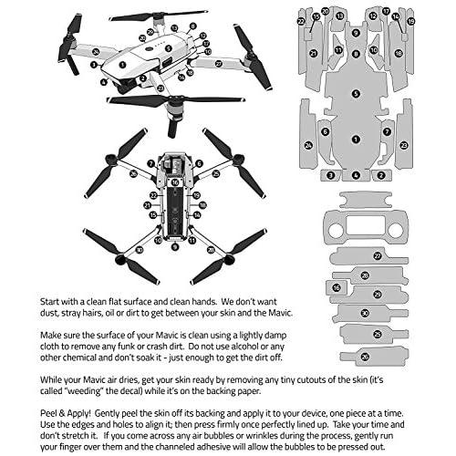 7613ff5eedd Starkiller Decal for drone DJI Mavic Pro Kit - Includes Drone Skin,  Controller Skin and