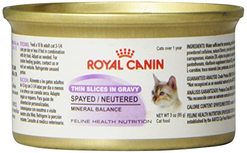 spayed neutered canned cat food