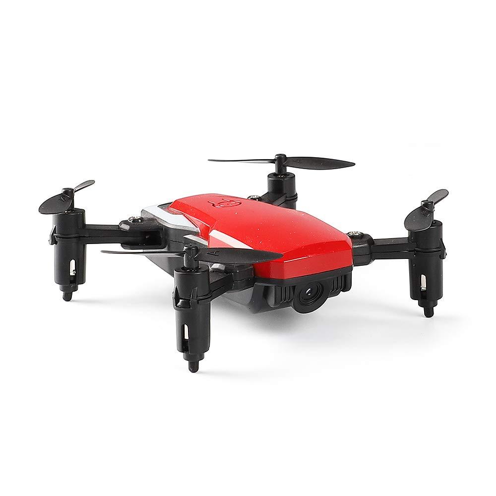 CLCYL RC Drone Toy Drone Camera, 30W Pixel 2.4 G Controllo funzioni Multiple FPV WiFi Pieghevole e Facile da trasportare Stunt Un Tasto per i Principianti di Volo,Red