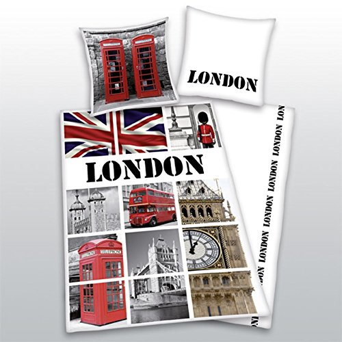 London Landmarks Single/US Twin Duvet Cover and Pillowcase Set (Union Jack Bedding Twin compare prices)