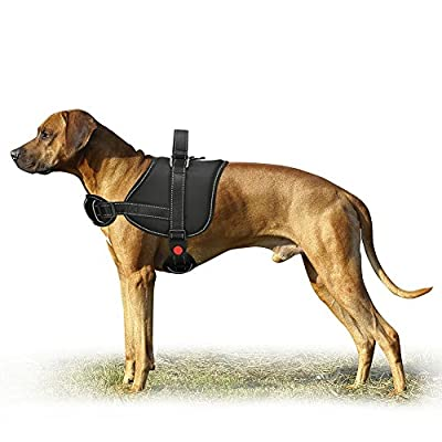 Cropal Dog Vest Harness, Padded Adjustable Vest with Reflective Oxford Material for Dogs Easy Control and Training for Small Medium Large Dogs