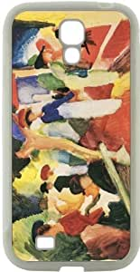 August Macke Art Hat Shop on the Promenade Design in Samsung? Galaxy S4 Egypt Case Cover (White Hard Rubber TPU helps with Bumper Protection) for Egypt Samsung Galaxy S4 i9500