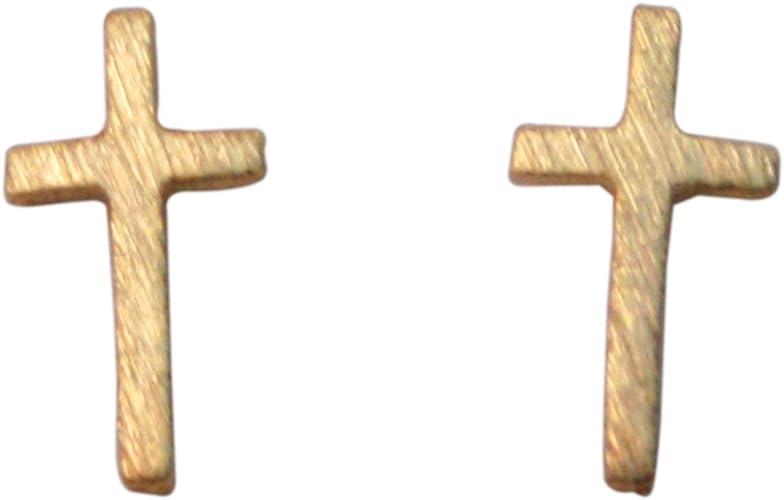 Amazon Com Gold Cross Earrings For Women Simple Cross Stud