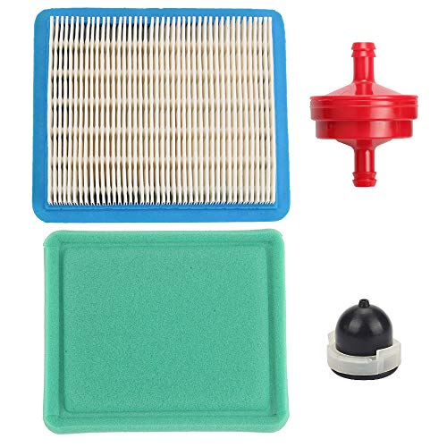 Trustsheer 491588S Air Filter Cleaner + 493537S Pre Filter Fuel Filter Primer Bulb for Briggs & Stratton 491588 399959 4915885 625e 675ex 725ex 625-675 Series and Quantum 3.5-6.75 Gross HP Push Mower