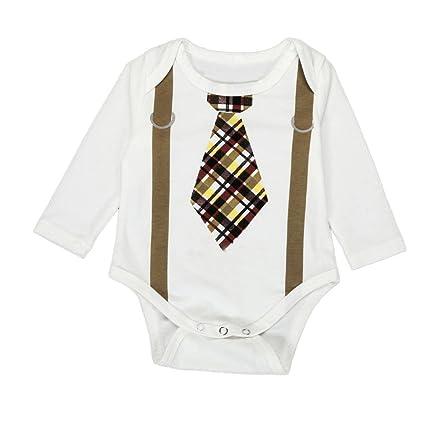 webla Kids Baby Boy Gentleman Mono Pelele Body blanco blanco Talla:Size:18M