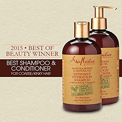 Shea Moisture Intensive Hydration Shampoo & Conditioner Set, 13 FL OZ