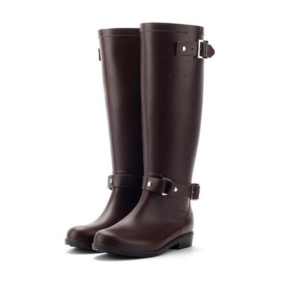 Haodasi Fashion Damen Wasserdicht RainStiefel Regen Stiefel High Tube Gummi Regen Schuhe schuhe Anti-rutschend Wasser Schuhe