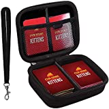 ANTS Hard Case for Exploding Kittens Card Game. Fits up to 400 Cards. Includes 2 Removable Divider