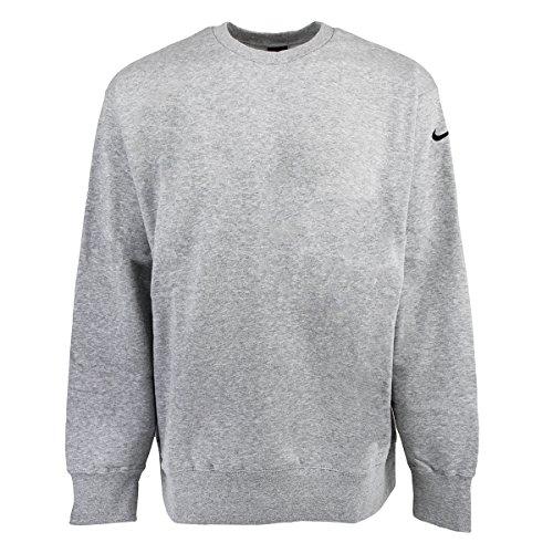 Nike Mens Core Crew Neck Sweatshirt-Heather Gray-XL