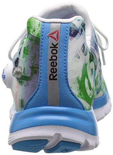 Reebok Womens Zpump Fusion Urban Running Scarpa California Blu / Bianco / Menta Bagliore