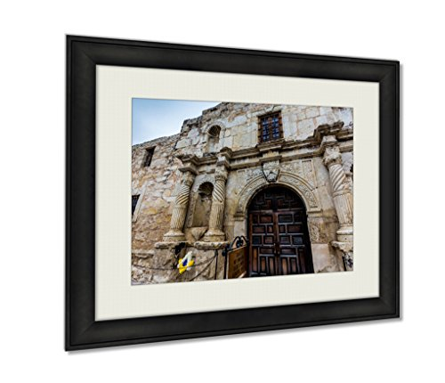 Ashley Framed Prints, The Alamo In San Antonio Texas, Wall Art Decor Giclee Photo Print In Black Wood Frame, Ready to hang, 20x25 Art, - In Texas Pictures Alamo The Of Antonio San
