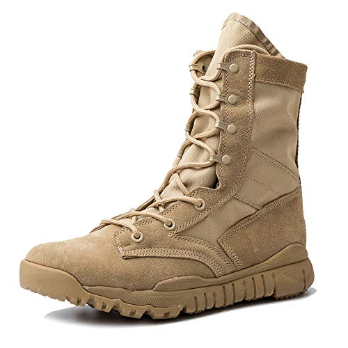 IODSON US Mens' Ultra-Light Combat Boots Military Tactical Work Boots (10 D(M) US, -