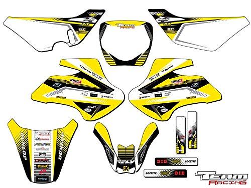 (Team Racing Graphics kit compatible with Suzuki 2000-2006 JR 50, ANALOG Complete Kit)