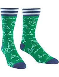 Mathlete, Men's Crew Socks, Math and Science Socks