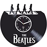 Vinyl Wall Clock, The Beatles, Paul Mccartney, John Lennon, Handmade Best Gift For Musician, Vinyl Record, Birthday Gift, Silent, Wall Clock Large, Wall Sticker, Rock Music Band, Kovides For Sale
