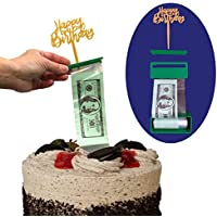 Cake Money Pull Out Kit, Money Cake Dispenser Box, Surprise Box, 100 Plastic Pockets in Money Cake Set, Graduation and Birthday Special Accessory