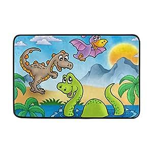 Novedoso para el hogar suave esponja Dinosaur Pattern Floor Mat