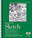 Strathmore 457-9 400 Series Recycled Sketch Pad, 9'x12' Wire Bound, 100 Sheets