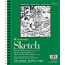 """Strathmore 457-9 400 Series Recycled Sketch Pad, 9""""x12"""" Wire Bound, 100 Sheets"""