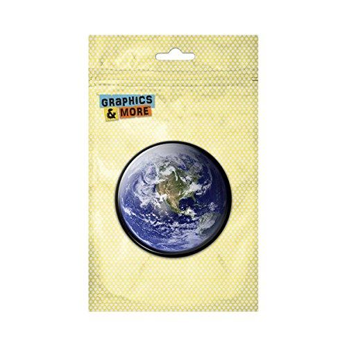 Earth North America View Pinback Button Pin Badge - 2.25 Inch - America Button Pinback