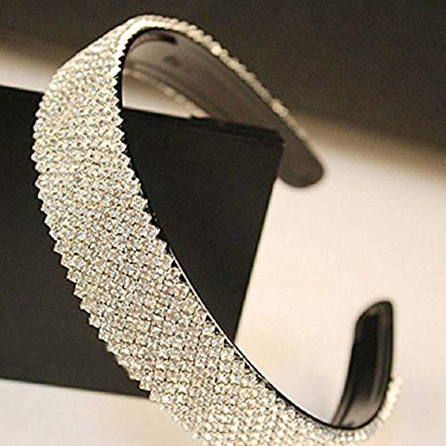 Crystal Rhinestone Close Chain SS16 Clear Rhinestone 1 Yard 2-Row Silver for DIY Decoration
