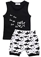 Baby Boys Girl's Summer Cotton Sleeveless Outfits Set Tops+Pants