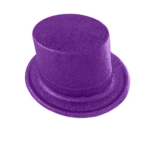 Forum Novelties Hat - Glitter Top Hat Purple Deluxe Accessory