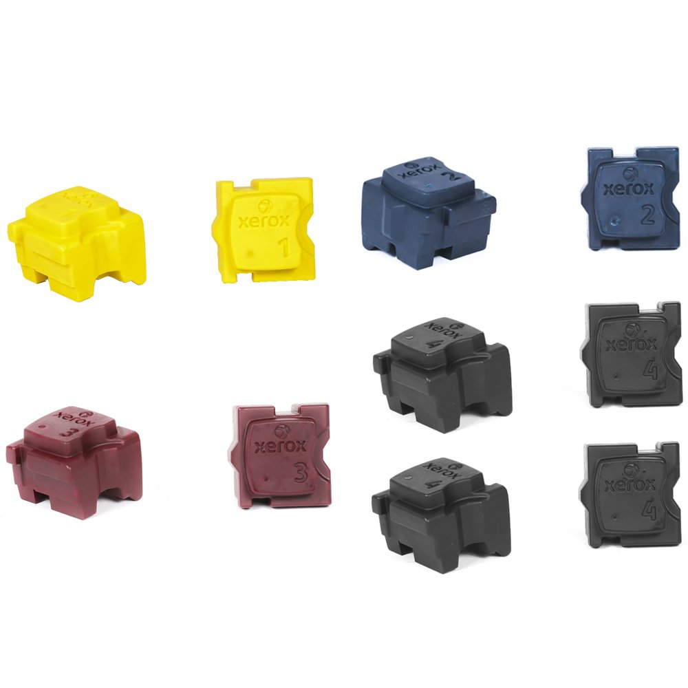 Xerox ColorQube 8700 ink - 10 Solid Inks replaces 108R00990 108R00991 108R00992 108R00994- Solid Ink Sticks