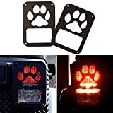 Automotive : Black Dog Paw Stainless Steel Guard Light Cover Kit for Jeep Wrangler JK JKU Unlimited Rubicon Sahara X Off Road Sport Exterior Accessories Parts 2007 2008 2009 2010 2011 2012 2013 2014 2015 2016 2017