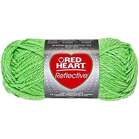 Coats Yarn Red Heart Reflective Yarn Neon Green Other