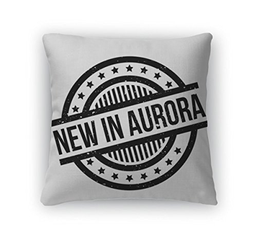 Gear New Throw Pillow Accent Decor, New In Aurora Rubber Stamp, 20