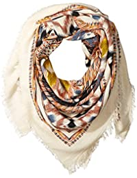 Women's Oversized Aztec Scarf with Fray Ends