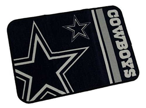 Dallas Cowboys 20 By 30 Inch Tufted Non-Skid Officially Licensed Bath Rug