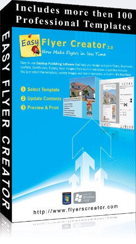 Easy Flyer Creator 2.0 - Design Flyers, Business Flyer Templates, Brochures, Desktop Publishing Templates FREE Upgrade to Version 3.0