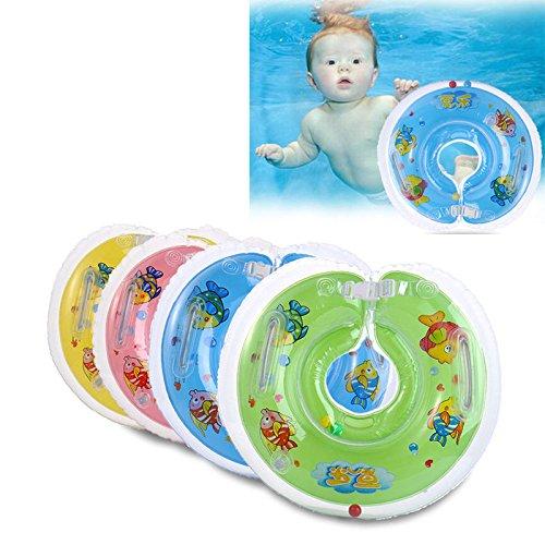 MIMIEYES Anillo flotador inflable ajustable de natación para cuello, apto para bebés de 1 – 18 meses, azul: Amazon.es: Deportes y aire libre