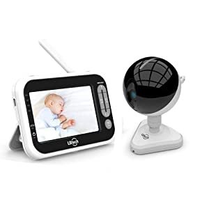 LBtechVideo Baby Monitor with One Camera, 4.3 inches LCD Screen,Infrared Night Vision,Two-Way Talkback,Temperature Detection,Power Saving/Vox,Zoom in Lens,Support Multi Camera