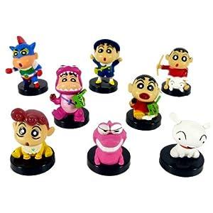 九得福 日本動漫周邊蠟筆小新8款黑底1代公仔 玩具擺件學生生日禮物