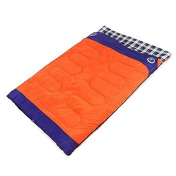 WTTFF* Saco de Dormir Doble, Naranja: Amazon.es: Deportes y ...
