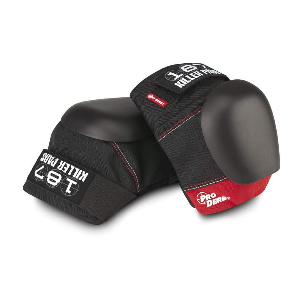 187 Pro Derby Knee Pad, Black/Red, X-Small