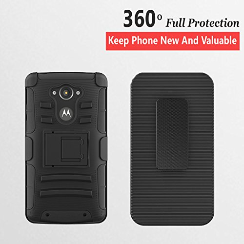 Amazon.com: Droid Turbo Case, Circlemalls Dual Layers [Combo Holster] and Built-in Kickstand Bundled with Dual Layers Protection Hybrid Shockproof Phone ...